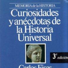 Livros em segunda mão: MEMORIA DE LA HISTORIA. CURIOSIDADES Y ANECDOTAS DE LA HISTORIA UNIVERSAL. PLANETA. 1993.. Lote 167113012