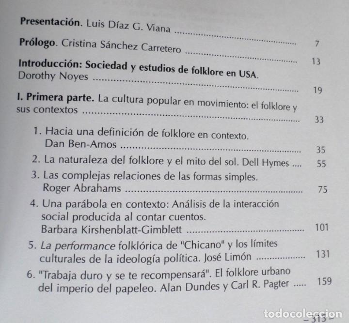 Libros de segunda mano: PERFORMANCE, ARTE VERBAL Y COMUNICACIÓN Nuevas perspectivas en los estudios de folklore y cultura po - Foto 3 - 167140648