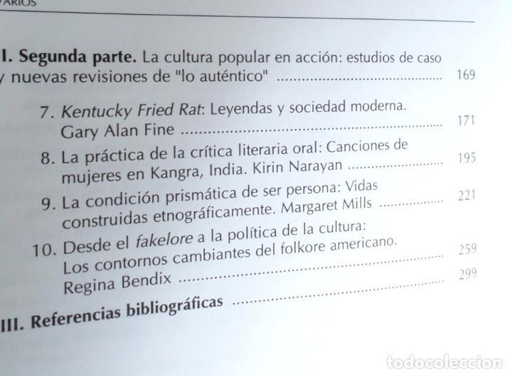 Libros de segunda mano: PERFORMANCE, ARTE VERBAL Y COMUNICACIÓN Nuevas perspectivas en los estudios de folklore y cultura po - Foto 4 - 167140648