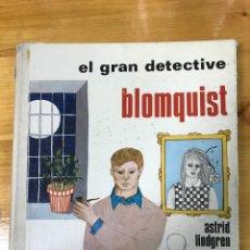 Libros de segunda mano: EL GRAN DETECTIVE BLOMQUIST.. Lote 167154705