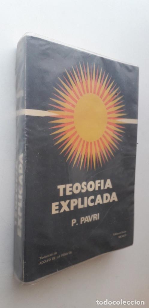 Libros de segunda mano: TEOSOFIA EXPLICADA - P. PAVRI - Foto 2 - 167163132