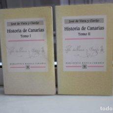 Libros de segunda mano: HISTORIA DE CANARIAS POR JOSE DE VIERA Y CLAVIJO. 2 TOMOS. CANARIAS 1991. Lote 167169112