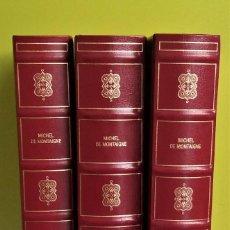 Libros de segunda mano: ENSAYOS - MICHEL DE MONTAIGNE - 3 TOMOS. Lote 167559304