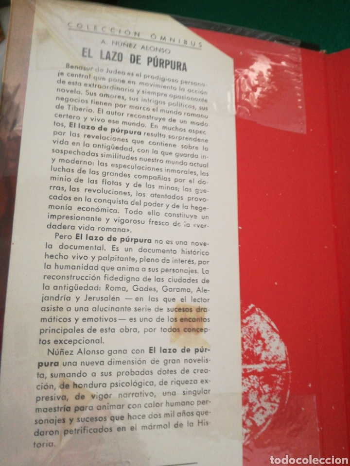 Libros de segunda mano: EL LAZO PURPURA DE ALEJANDRO NUÑEZ ALONSO - Foto 3 - 167687646