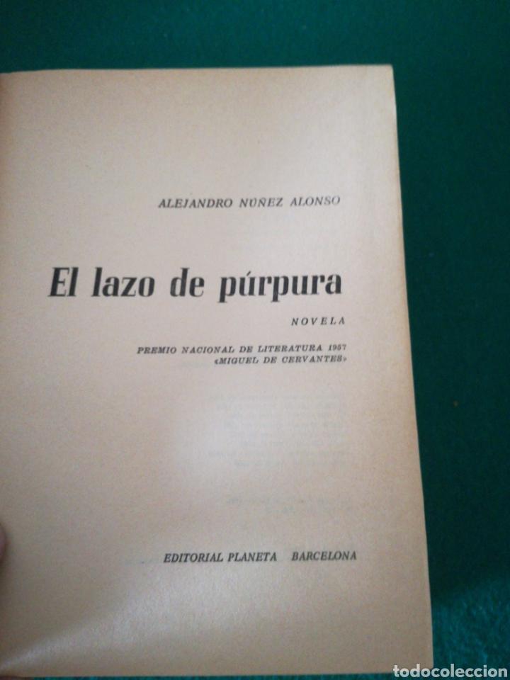 Libros de segunda mano: EL LAZO PURPURA DE ALEJANDRO NUÑEZ ALONSO - Foto 5 - 167687646
