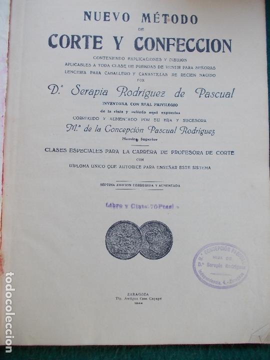 Libros de segunda mano: NUEVO METODO DE CORTE 1944 - Foto 2 - 167746776