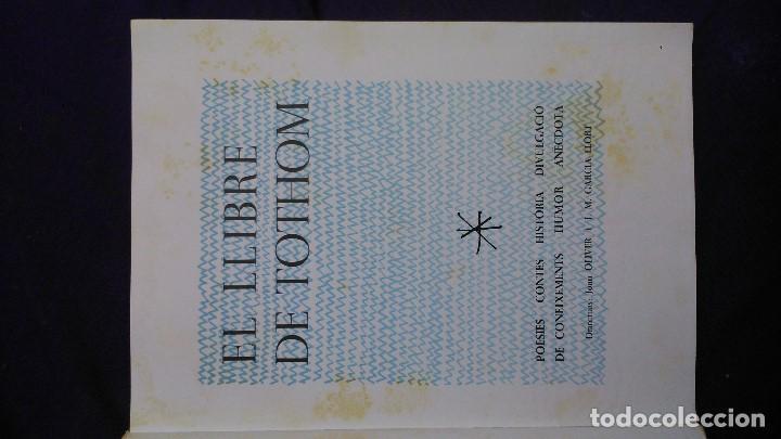 Libros de segunda mano: curioso libro catalán de 1963 EL LLIBRE DE TOTHOM de Editorial Alcides compilado por Joan Oliver - Foto 2 - 167863704