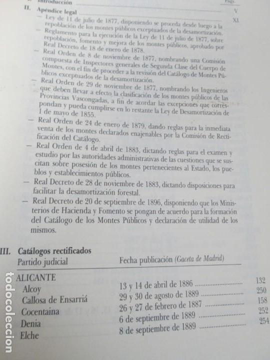 Libros de segunda mano: RECTIFICACION DEL CATALOGO DE LOS MONTES PUBLICOS 1877-1896. CATALOGO DE LOS MONTES Y DEMAS TERRENOS - Foto 16 - 167875136