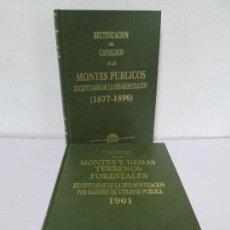 Libros de segunda mano: RECTIFICACION DEL CATALOGO DE LOS MONTES PUBLICOS 1877-1896. CATALOGO DE LOS MONTES Y DEMAS TERRENOS. Lote 167875136
