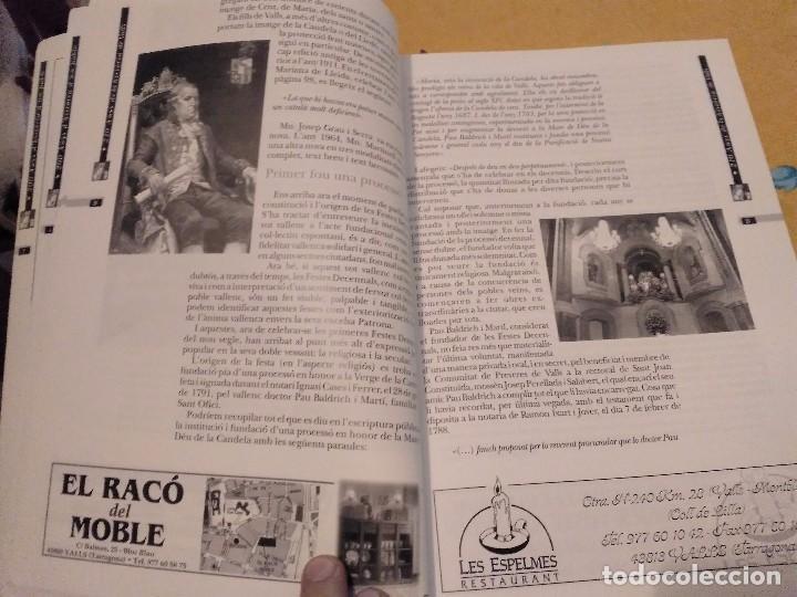 Libros de segunda mano: LES FESTES DECENNALS DE LA MARE DE DEU DE LA CANDELA 210 ANYS HISTORIA DE VALLS 1791 - 2001 - Foto 9 - 167946936