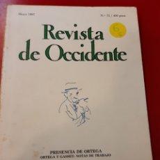 Libros de segunda mano: REVISTA DE OCCIDENTE. Lote 168043805