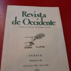 Libros de segunda mano: REVISTA DE OCCIDENTE. Lote 168044088