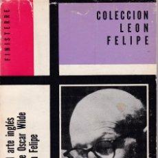 Libros de segunda mano: OSCAR WILDE - EL RENACIMIENTO DEL ARTE INGLÉS Y OTROS ENSAYOS - ED. FINISTERRE 1974 / MÉXICO. Lote 168085576