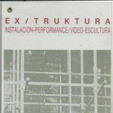 Libros de segunda mano: ANTÓN JODRA : EX / TRUCTURA (INSTALACIÓN-PERFORMANCE-VIDEO-ESCULTURA). 4 HOJAS + CUBIERTAS. 14 X 41 . Lote 168097400