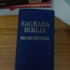Libros de segunda mano: LA SAGRADA BIBLIA NÁCAR COLUNGA. Lote 168114644