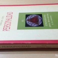 Libros de segunda mano: TIPOS DE PERSONALIDAD/ DON RICHARD RISO/ ENEAGRAMA PARA DESCUBRIRSE A SI MISMO/ / I-303. Lote 168115480
