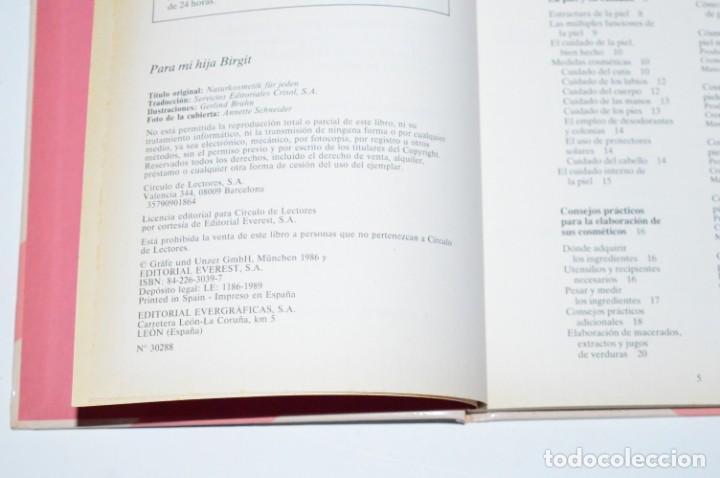 Libros de segunda mano: LIBRO COSMÉTICA NATURAL LINDA WANIOREK CÍRCULO DE LECTORES 1989 RECETAS VIDA SANA PRODUCTOS CASEROS - Foto 3 - 168192184