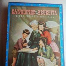 Libros de segunda mano: CANCIONES DE LA ABUELITA. LIBRO -JUGUETE MUSICAL. CUENTO, CANCIONES Y XILOFÓN. Lote 168240792