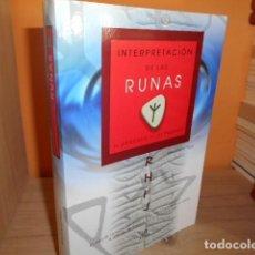 Libros de segunda mano: INTERPRETACION DE LAS RUNAS / EL ORACULO DE LAS PIEDRAS / MACARENA ROJO. Lote 168245536