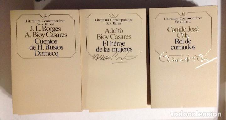 LOTE 96 NOVELAS LITERATURA CONTEMPORÁNEA SEIX BARRAL 1985 (Libros de Segunda Mano - Bellas artes, ocio y coleccionismo - Otros)