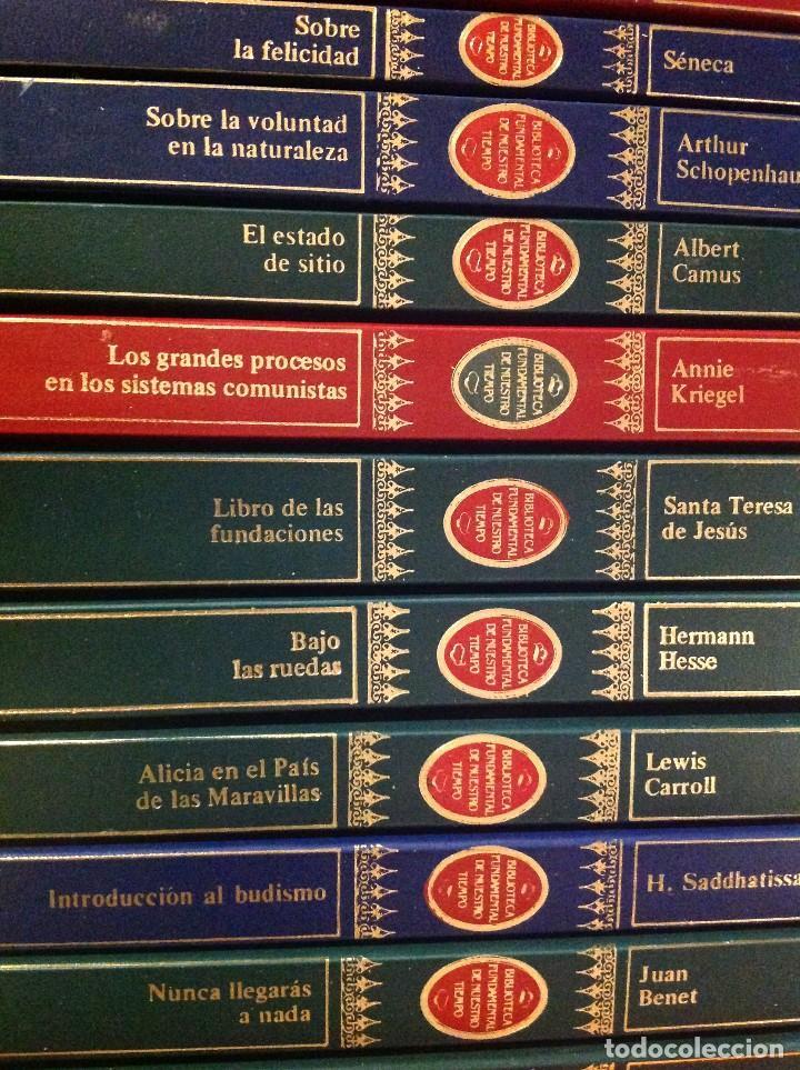 Libros de segunda mano: Biblioteca Fundamental De Nuestro Tiempo 122 Libros / Narrativa Historia Filosofía Y Ciencias 1985 - Foto 5 - 168347700