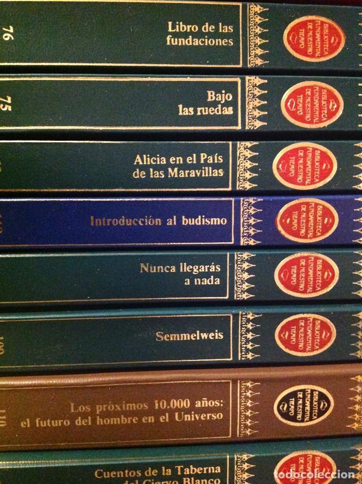 Libros de segunda mano: Biblioteca Fundamental De Nuestro Tiempo 122 Libros / Narrativa Historia Filosofía Y Ciencias 1985 - Foto 7 - 168347700