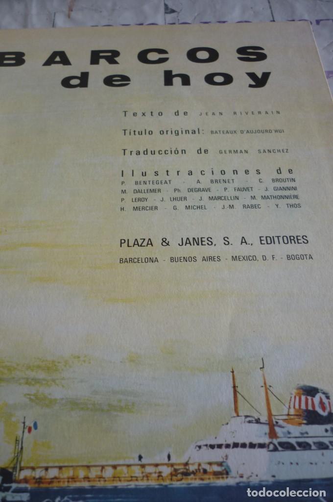 Libros de segunda mano: BARCOS DE HOY. PLAZA & JANES - Foto 3 - 168375468