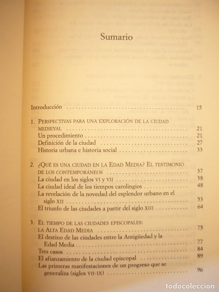 Libros de segunda mano: THIERRY DUTOUR: LA CIUDAD MEDIEVAL (PAIDÓS, 2004) COMO NUEVO - Foto 5 - 168379984