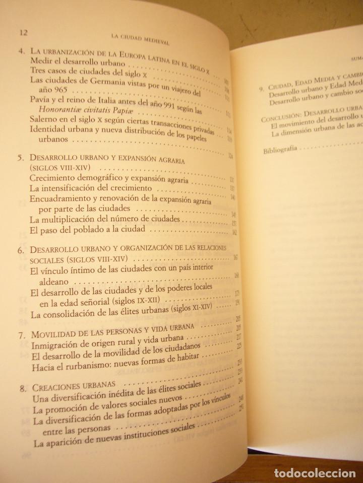 Libros de segunda mano: THIERRY DUTOUR: LA CIUDAD MEDIEVAL (PAIDÓS, 2004) COMO NUEVO - Foto 6 - 168379984