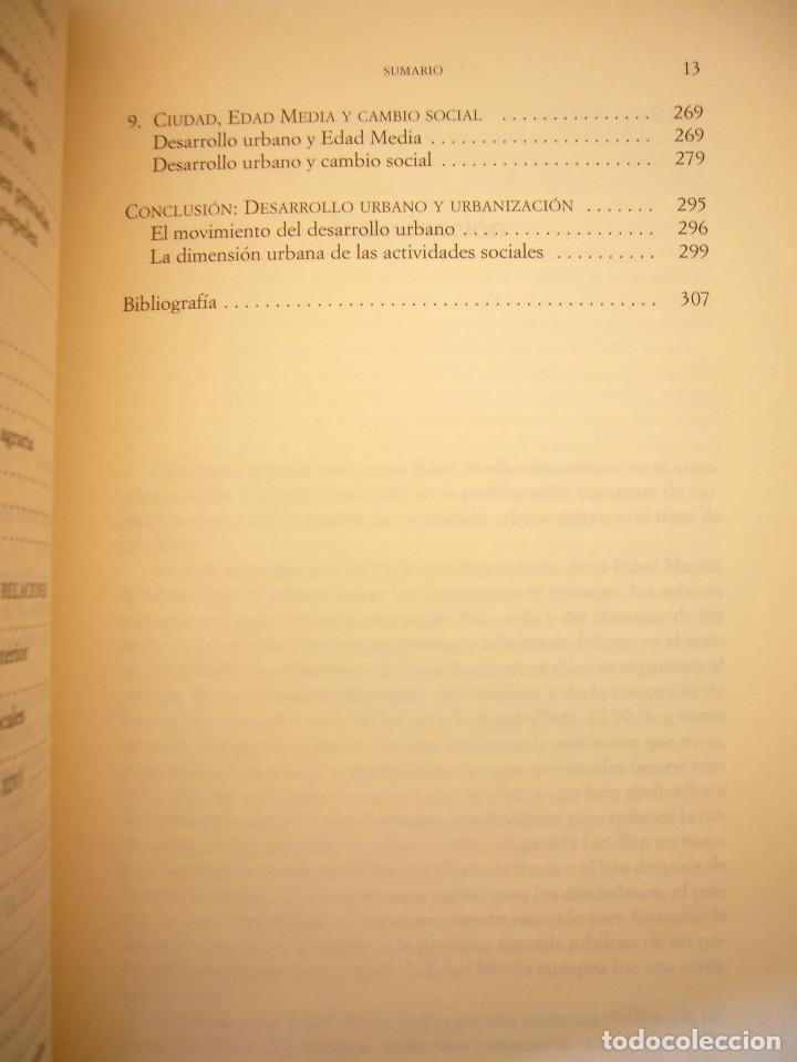 Libros de segunda mano: THIERRY DUTOUR: LA CIUDAD MEDIEVAL (PAIDÓS, 2004) COMO NUEVO - Foto 7 - 168379984