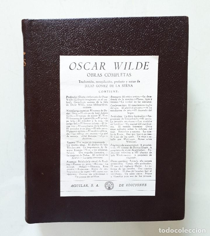 oscar wilde / obras completas / aguilar 1958 co - Comprar
