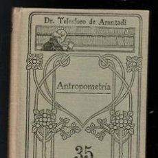 Libros de segunda mano: ANTROPOMETRÍA, TELESFORO DE ARANZADI. MANUALES GALLCH. Lote 168409102
