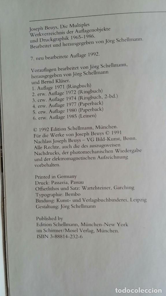 Libros de segunda mano: Joseph BEUYS, CATALOGO RAZONADO de Múltiples, SCHELLMANN - Foto 5 - 168494216