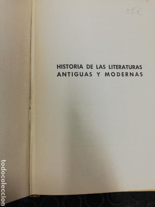 Libros de segunda mano: Historia de las literaturas antiguas y modernas. Ed. Ramón Sopena, año 1.949.I tomo. - Foto 3 - 168371162