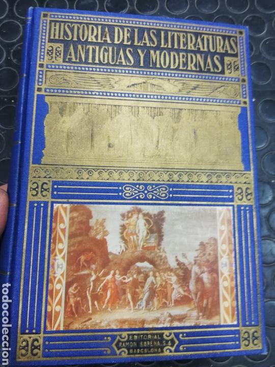 HISTORIA DE LAS LITERATURAS ANTIGUAS Y MODERNAS. ED. RAMÓN SOPENA, AÑO 1.949.I TOMO. (Libros de Segunda Mano - Historia - Otros)