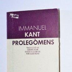 Libros de segunda mano: LIBRO PROLEGÒMENS IMMANUEL KANT EDITORIAL LAIA 1982 TEXTOS FILOSÒFICS DEPARTAMENT CULTURA CATALUNYA. Lote 168546808