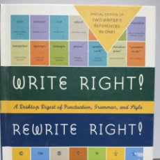 Libros de segunda mano: WRITE RIGHT! REWRITE RIGHT! - JAN VENOLIA. Lote 168588237