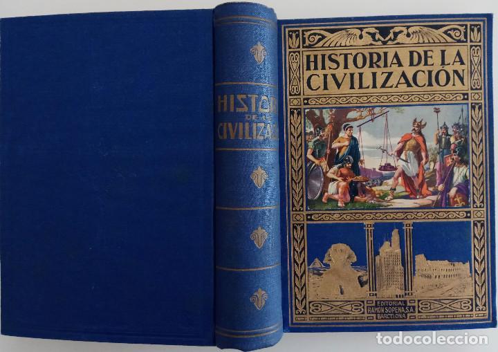 Libros de segunda mano: HISTORIA DE LA CIVILIZACIÓN - POR EDGAR SANDERSON - EDITORIAL RAMÓN SOPERA - AÑO 1942 - Foto 2 - 168610532