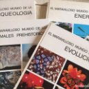 Libros de segunda mano: 4 LIBROS EL MARAVILLOSO MUNDO DE - EDICIÓN AGUILAR - EVOLUCIÓN, ARQUEOLOGÍA, ANIMALES PREHISTÓRICOS,. Lote 168614580