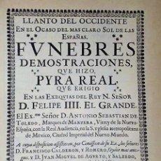 Libros de segunda mano: LLANTO DEL OCCIDENTE Y NOTICIA BREVE (EDICIÓN FACSIMILAR DE BIBLIÓFILOS MEXICANOS). Lote 168635548