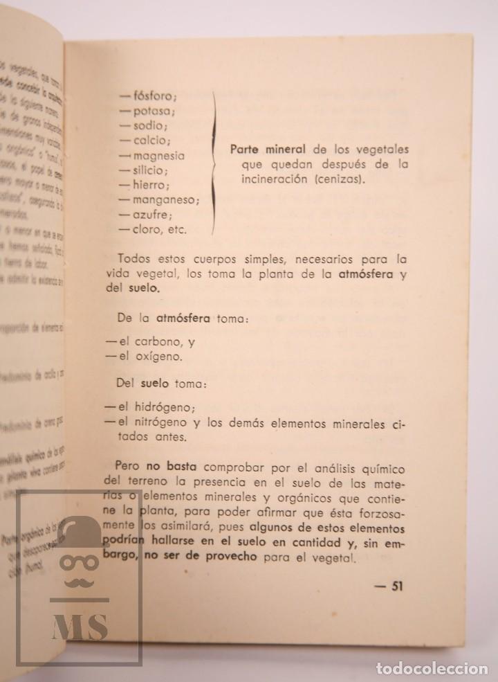 Libros de segunda mano: Libro Pequeña Guía del Agricultor - Servicios Agronómicos del Nitrato de Chile, 1951 - Foto 5 - 168670016