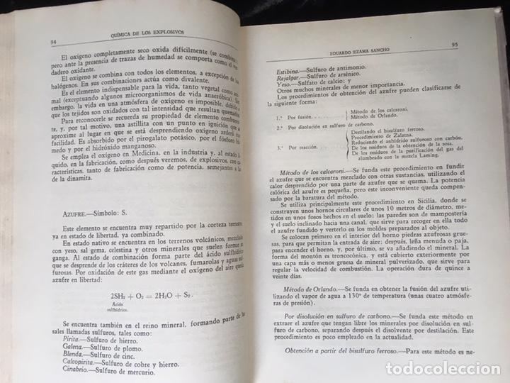 Libros de segunda mano: QUÍMICA DE LOS EXPLOSIVOS - EZAMA SANCHO - ILUSTRADO - Foto 4 - 168756712