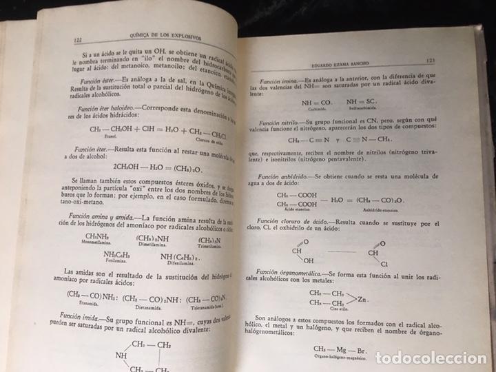 Libros de segunda mano: QUÍMICA DE LOS EXPLOSIVOS - EZAMA SANCHO - ILUSTRADO - Foto 5 - 168756712