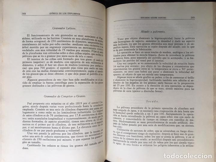 Libros de segunda mano: QUÍMICA DE LOS EXPLOSIVOS - EZAMA SANCHO - ILUSTRADO - Foto 6 - 168756712