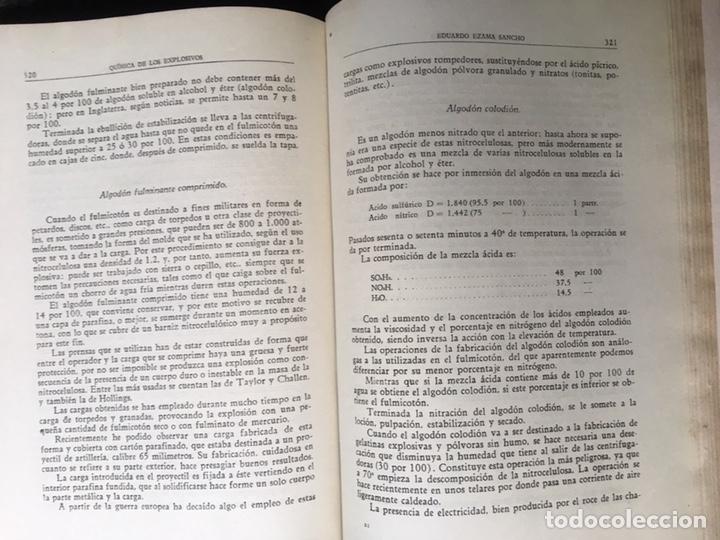 Libros de segunda mano: QUÍMICA DE LOS EXPLOSIVOS - EZAMA SANCHO - ILUSTRADO - Foto 11 - 168756712
