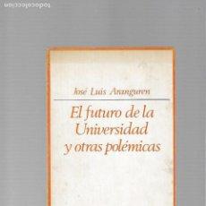 Libros de segunda mano: JOSE LUIS ARANGUREN EL FUTURO DE LA UNIVERSIDAD Y OTRAS POLEMICAS MADRID 1973 TAURUS EDICIONES. Lote 168829528