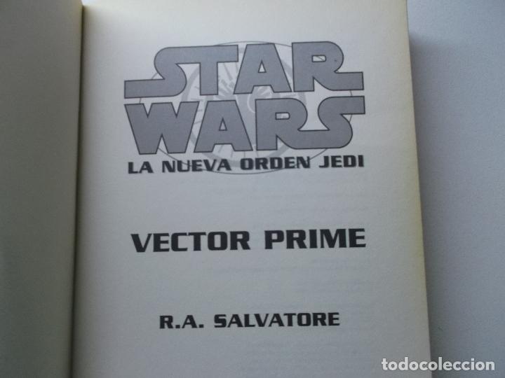 Libros de segunda mano: Novela Star Wars: Vector Prime (La Nueva Orden Jedi) - R.A: Salvatore; Alberto Santos, tapa blanda - Foto 3 - 168844120