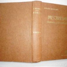 Libros de segunda mano: CELSO MAXIMO MECANISMO (CÁLCULO Y CONSTRUCCIÓN) Y94737. Lote 168915560