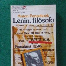 Libros de segunda mano: LENIN, FILÓSOFO / ANTON PANNEKOEK / 1976. AYUSO. Lote 168931984