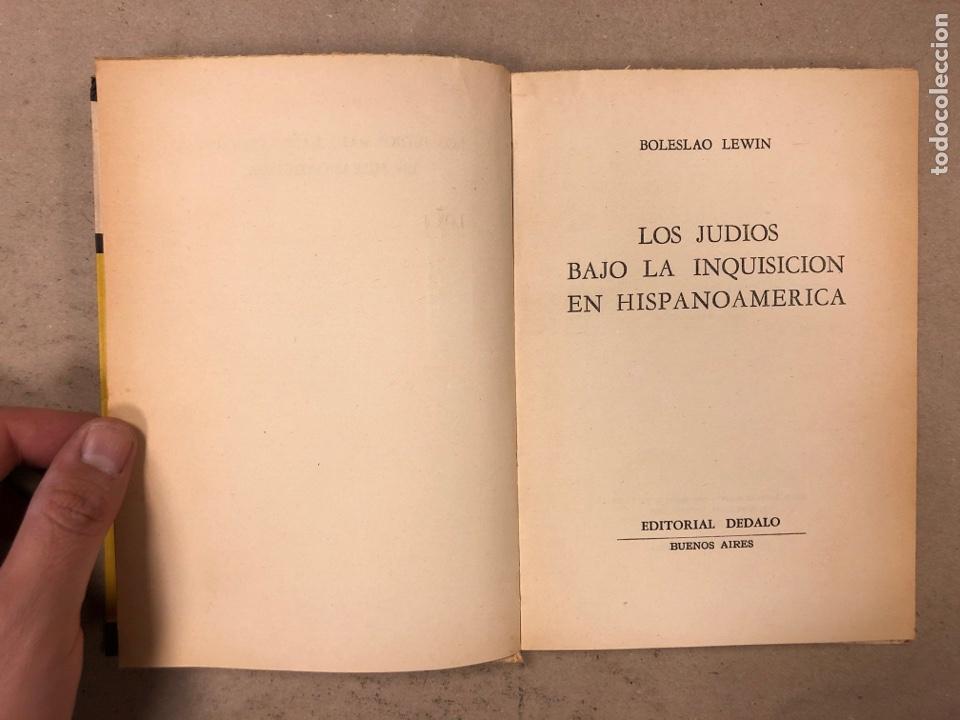 Libros de segunda mano: LOS JUDÍOS BAJO LA INQUISICIÓN EN HISPANOAMERICA. BOLESLAO LEWIN. EDITORIAL DÉDALO 1960. - Foto 2 - 168961868